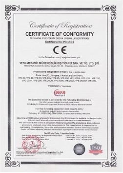 Plakalı Eşanjör CE